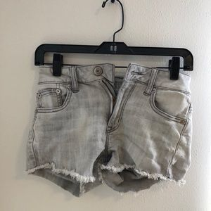 Gray AE jean shorts